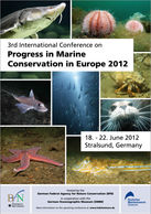 Poster zur 3rd International Conference on Progress in Marine Conservation in Europe 2012
