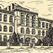 Drawing of former Reich Agency for Nature Conservation - front View