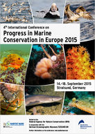 Plakat für die Konferenz Progress in Marine Conservation in Europe 2015